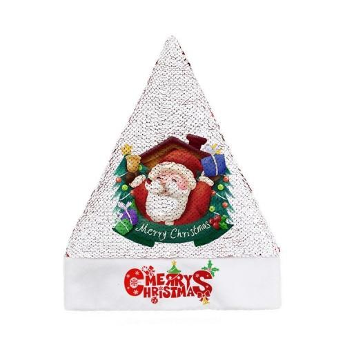 Bonnet de Noël enfant sequin personnalisable