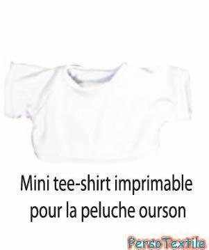 Mini tee-shirt pour peluche ours brun clair
